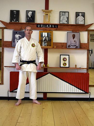 Shomen and Shindan in the Makoto Shogen Ryu Karate Dojo, Donegal Ireland